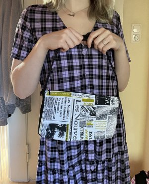 Baguette Bag Newspaper handmade
