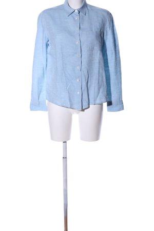 Bagutta Linen Blouse blue flecked business style