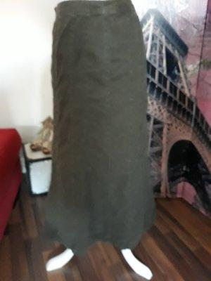 C&A Falda de lino caqui