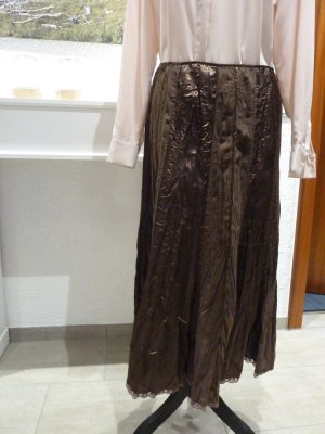 Canda Jupe en tissu crash brun foncé