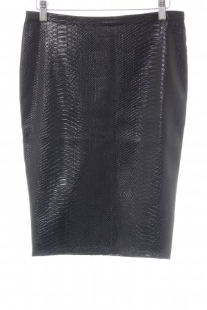 Bailey44 Pencil Skirt dark brown animal pattern