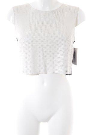 Bailey44 Top o skróconym kroju w kolorze białej wełny-czarny