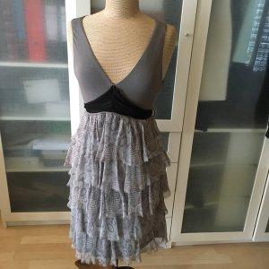 Bailey44 Sukienka z falbanami szary Bawełna