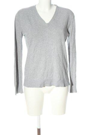 Bailly Diehl Fine Knit Jumper light grey flecked casual look