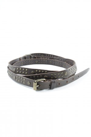 Bailly Diehl Leather Belt dark brown classic style