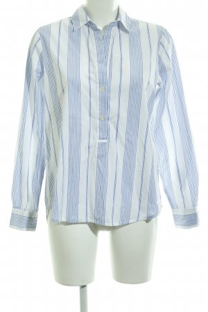 Bailly Diehl Slip-over Blouse white-azure striped pattern casual look