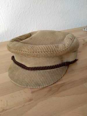 Baker's Boy Cap sand brown corduroy
