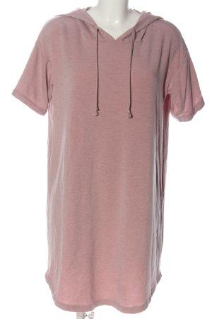 Balance Robe à capuche rose moucheté style décontracté