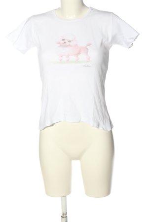 Balbina Shirt met print wit-roze prints met een thema casual uitstraling