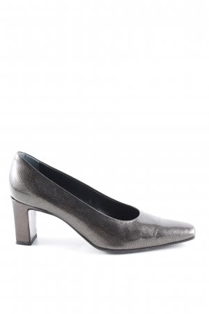 Baldan Loafers black-silver-colored allover print business style