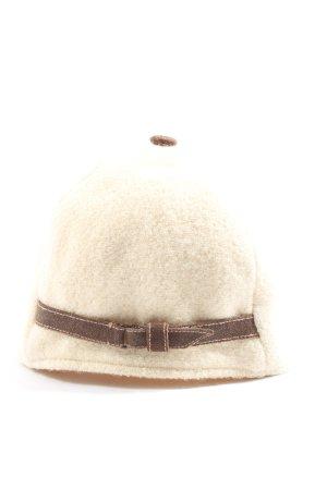 Baldauf & Lenk Cappello in tessuto bianco sporco stile casual