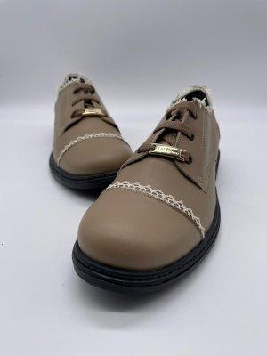 Baldinini Sznurowane buty beżowy-camel