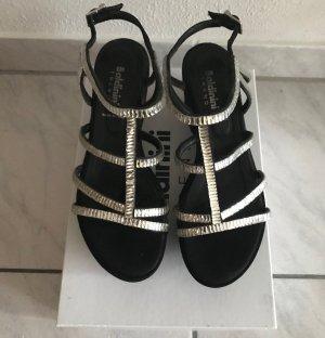 Baldinini Sandalias con plataforma negro-blanco Cuero