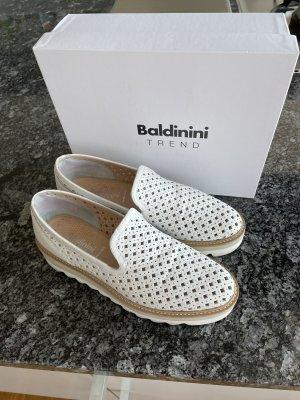 Baldinini Trend Babouche blanc-marron clair cuir
