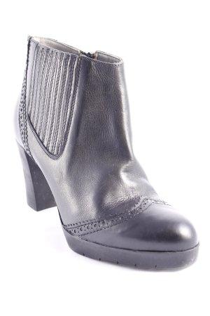 Baldinini Reißverschluss-Stiefeletten schwarz klassischer Stil Leder