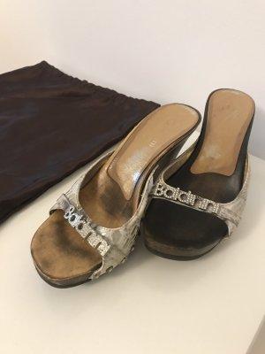 Baldinini Sandały na platformie jasnobrązowy Skóra
