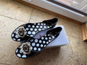 Baldinini Beach Sandals black-white