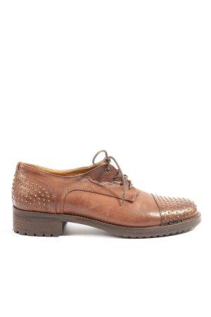 Baldinini Sznurowane buty brązowy-złoto W stylu casual