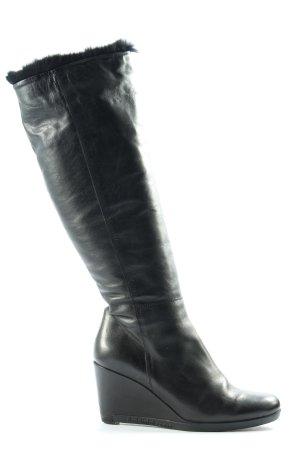 Baldinini Bottes à tige large noir style décontracté