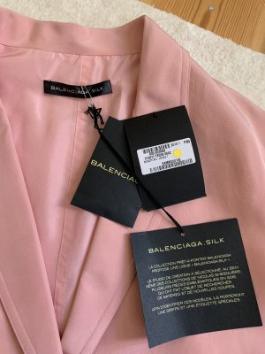 Balenciaga Colletto camicia rosa pallido Seta