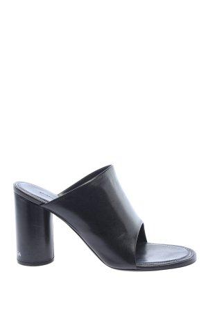 Balenciaga Mule à talon noir style décontracté