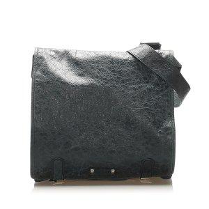 Balenciaga Crossbody bag dark blue leather