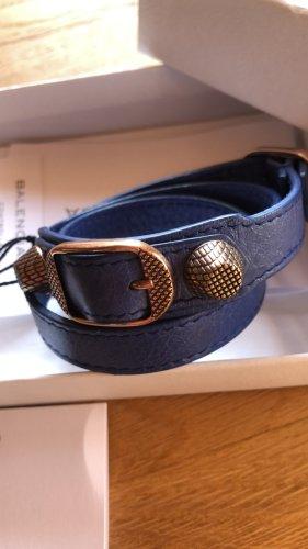 Balenciaga Bracelet bleu cuir