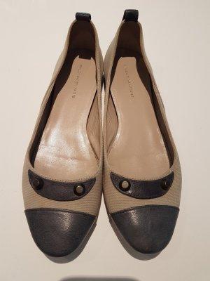 Balenciaga Foldable Ballet Flats light grey-cream linen
