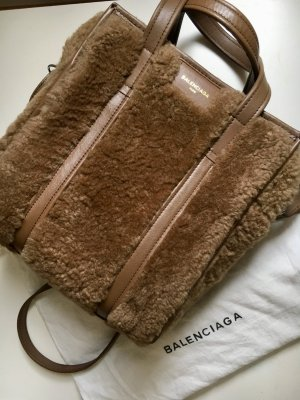 Balenciaga Bazar XS Shearling Tote Tasche