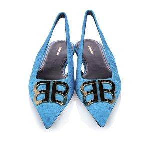 Balenciaga Escarpins bleu clair coton