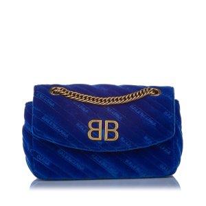 Balenciaga Sac bandoulière bleu daim