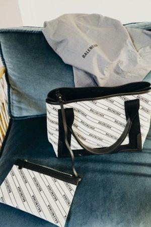Balenciaga Cabas Tote Shopper Handtasche Leinen einmal getragen
