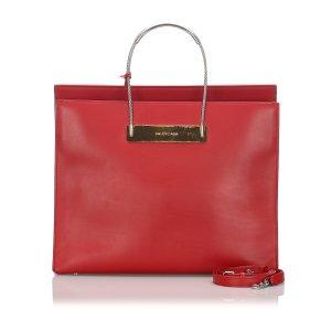 Balenciaga Tote red leather