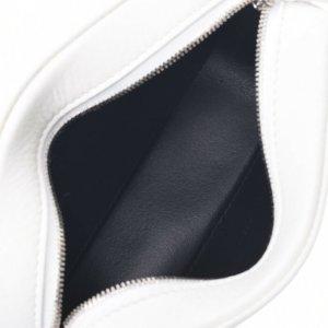 Balenciaga Bolsa de hombro blanco Cuero