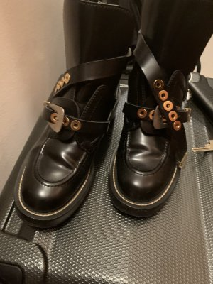 Balenciaga Ankle Boots black leather