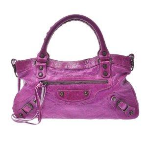 Balenciaga Handbag violet leather