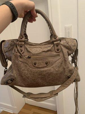 Balenciaga Handbag grey brown leather