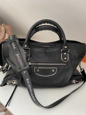 Balenciaga Sac bandoulière noir cuir