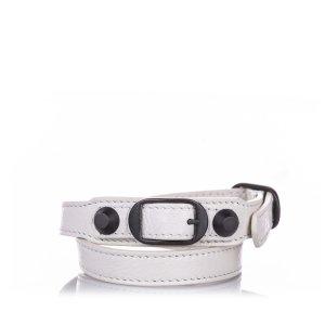 Balenciaga Bracelet blanc cuir