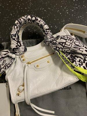 Balenciaga Minibolso blanco Cuero