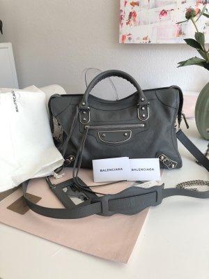 Balenciaga Handbag grey-silver-colored leather