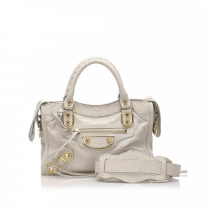 Balenciaga Classic Metallic Edge Mini City Satchel