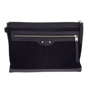 Balenciaga Clutch black textile fiber