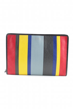 Balenciaga Clutch Streifenmuster Business-Look