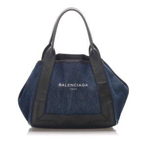 Balenciaga Sac fourre-tout bleu coton