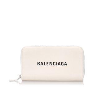 Balenciaga Wallet white leather