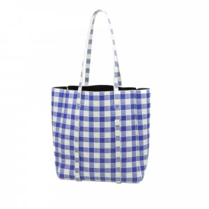 Balenciaga Everyday Plaid Leather Tote