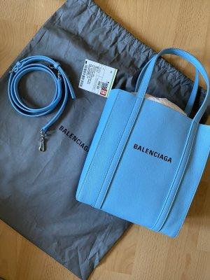 Balenciaga Sac à main bleu fluo cuir