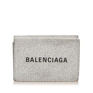 Balenciaga Portmonetka srebrny Skóra