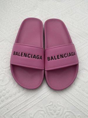 Balenciaga Sandały japonki różowy-czarny